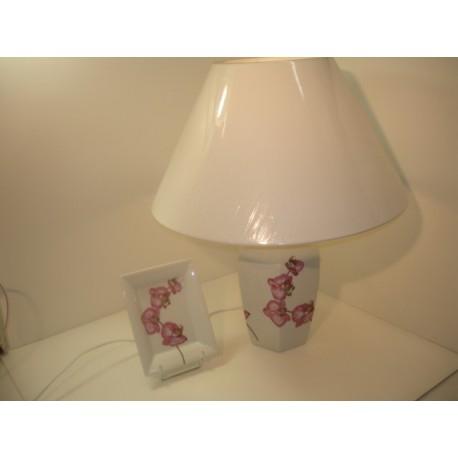 pied de lampe orchidée gm avec abat jour