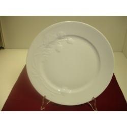 assiette plate blanche  PERRIER JOUET