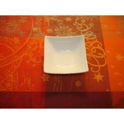 coupelle APSARA carrée en porcelaine blanche
