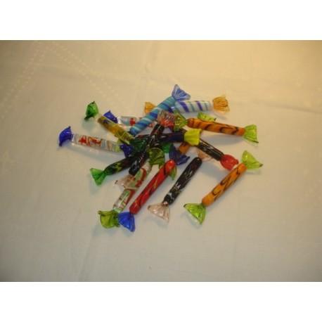 bonbons en verre multicolores