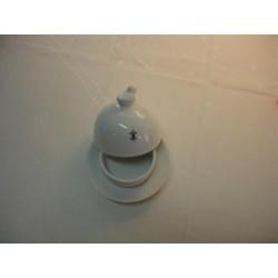 Beurrier individuel en porcelaine décorée