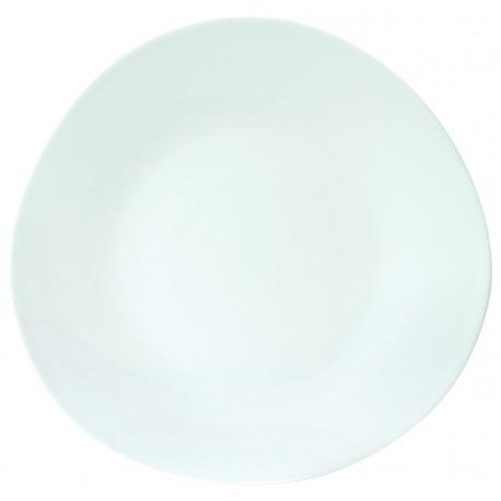 assiette plate galet blanc diam 300mm