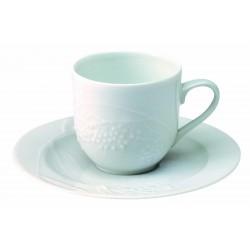 PAIRE TASSE A CAFE PROMENADE (TASSE ET SOUCOUPE)12.5cl MOTIF SUREAU