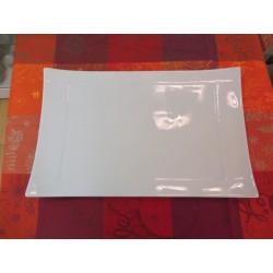 plat rectangulaire APSARA blanc 39x25