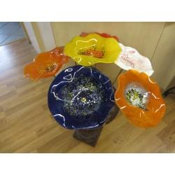Fleurs en verre diam 20cm tige long 50cm