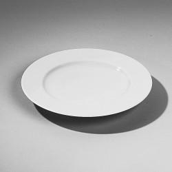 "Assiette plate ""Mazarin""  en porcelaine blanche diam 265mm"