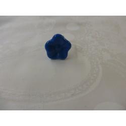 Bague en verre forme fleur couleur turquoise